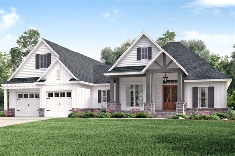 modern farmhouse elevations craftsman style house plan 3 beds 2 baths 2073 sq ft