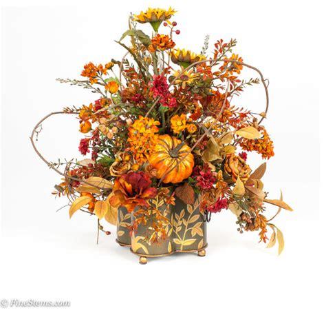 fall floral arrangements custom silk fall floral arrangement traditional