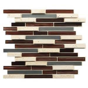 Peel And Stick Backsplash Home Depot Instant Mosaic 12 In X 13 In X 7 Mm Peel And Stick Glass