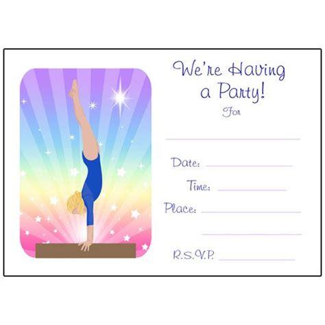 printable gymnastics invitation 1000 ideas about free frozen invitations on pinterest