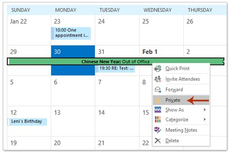 Shared Calendar How To Hide Appointments In A Shared Calendar In Outlook