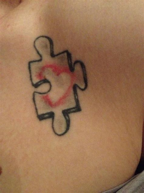heart puzzle tattoo puzzle of the tattoos on students at