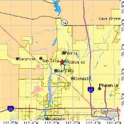 peoria arizona map area code map az area wiring diagram and circuit