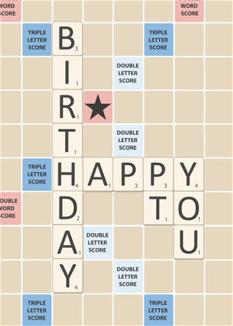 Scrabble Letters Home Decor Birthday Greeting Cards Scrabble Board By Mixbook