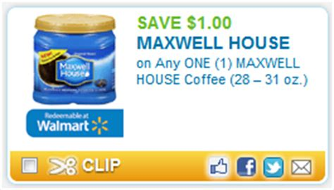 printable maxwell house coupons brand new coupon 1 00 off on any one 1 maxwell house