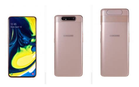 Samsung Galaxy A80 New Price by Samsung Galaxy A80 Launched With 48mp Rotating In Display Fingerprint Sensor Price