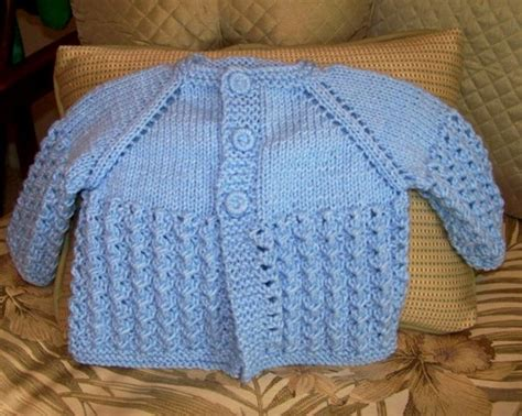 Handmade Sweater Patterns - knit baby sweater 3 6 months lace pattern