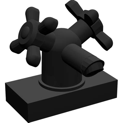 Lego Part Other Black Tap 1 X 1 Without In End lego black tap 1 x 2 with two taps large handles brick owl lego marketplace