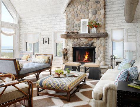 interior design milwaukee whitewashed lake cabin rustic living room