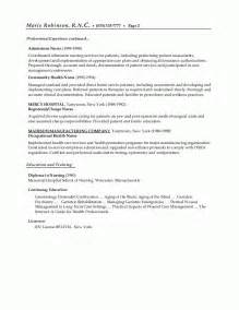 sle resumes resume or nursing resume