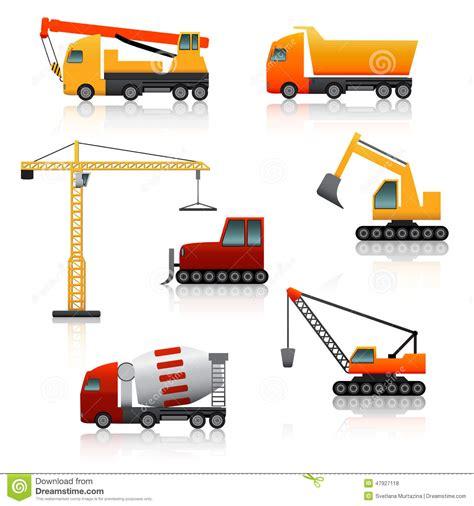 clipart edilizia icon construction equipment crane scoop mixer with