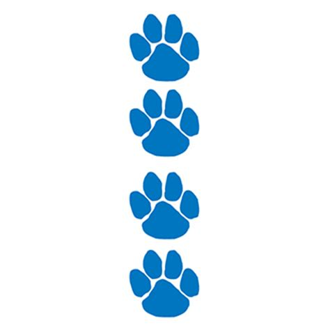 Navy Paw Print Clip by Navy Blue Paw Print Temporary Goimprints