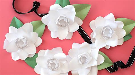 Collection of how to make a paper flower gardenia youtube gallery of how to make a paper flower gardenia youtube mightylinksfo
