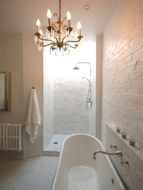 Bathrooms With Chandeliers Bathroom Chandeliers Home Design Ideas