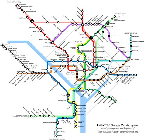 washington dc wmata metro express concept map