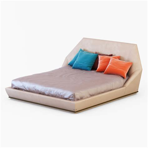 Yu Me Pillow by Bed Longhi 3d Max
