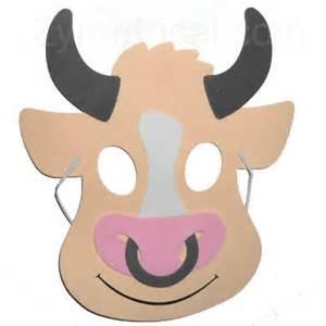 bull mask template foam barnyard animal masks for sale