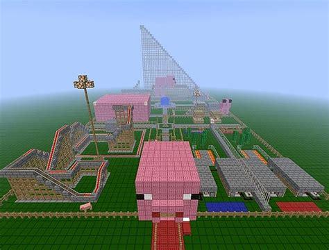 theme park minecraft 6 pigs pig themed amusement park minecraft project