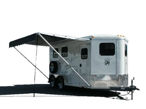 awning for horse trailer stallion horse trailers homesteader trailer