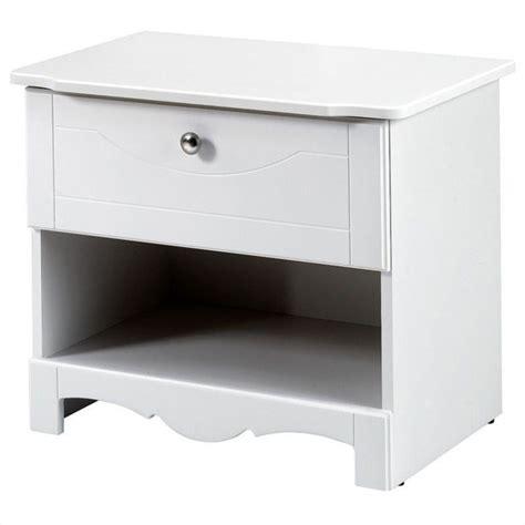 White And Wood Nightstand Wood Nightstand In White 310103