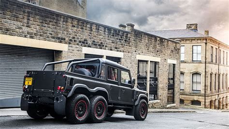 kahn land rover defender double cab kahn design 6x6 huntsman defender pickup car tavern
