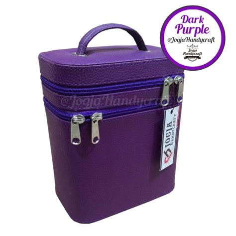 Tas Import Wanita Lm1040412 High Quality Synthetic Leather makeup pouch tas kosmetik susun compartmen purple