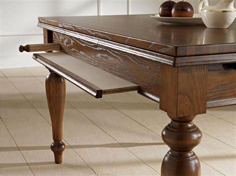 benedetti tavoli tavolo classico in legno attrezzato di benedetti