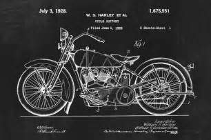 Vintage Home Decor Australia harley davidson motorcycle invention patent art poster