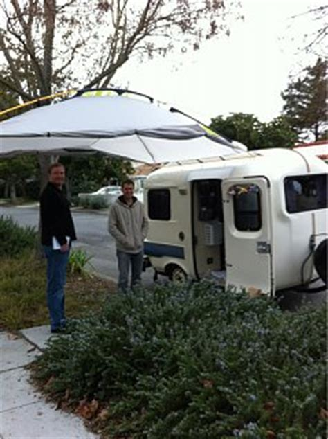 ker awnings suv or truck tent on a 13 footer fiberglass rv