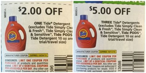 Tide Coupons Free Printable