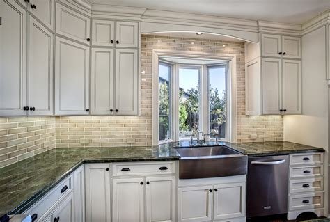 kitchen cabinet tiles classic white kitchen with subway tile griffin custom