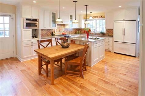 kitchen island with table extension 30 kitchen islands with tables a simple but clever combo