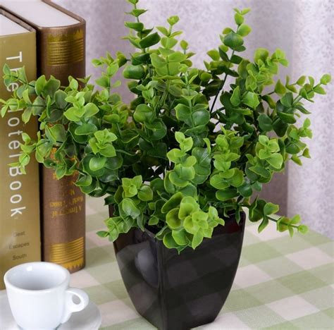 Vase Sepeda Anyaman Bunga Hias 1pcs rustic flowers and plants artificial grass home decoration shoots eucalyptus plant