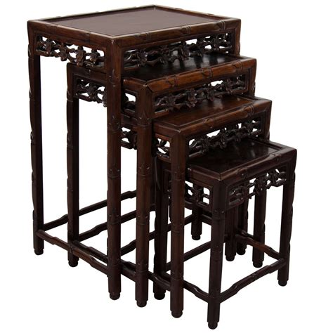 early 20th century set of rosewood nesting tables