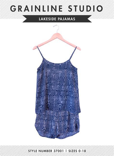 sewing pattern grainline grainline studio 37001 lakeside pajamas downloadable pattern