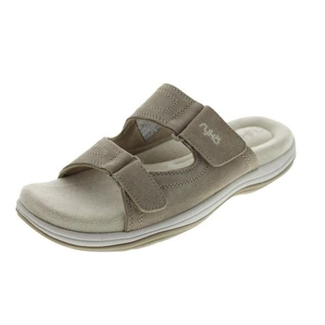 ryka sandals ryka new kitt suede casual slide sandals shoes bhfo ebay