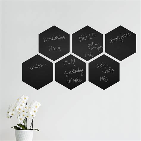 chalk wall stickers hexagon chalkboard wall decal retro beehive chalkboard