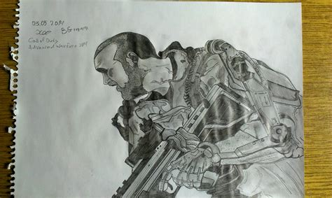 Cool Things To Draw Advanced by Call Of Duty Advanced Warfare Drawing 2014 By Fghfghdfgh