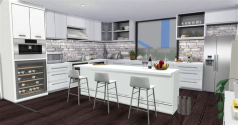 Ikea Dining Room Sets modern kitchen at aymiassims 187 sims 4 updates