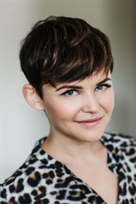 pixie cuts how to style a ginnifer goodwin pixie 18 short hairstyles for thick hair styles weekly