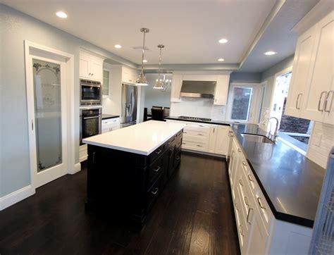u shaped kitchen transitional kitchen twin companies irvine transitional black and white u shaped kitchen and