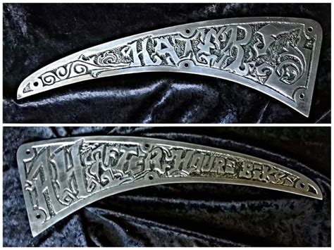 metal engraving metal engraved by side plates for a motorcycle gas