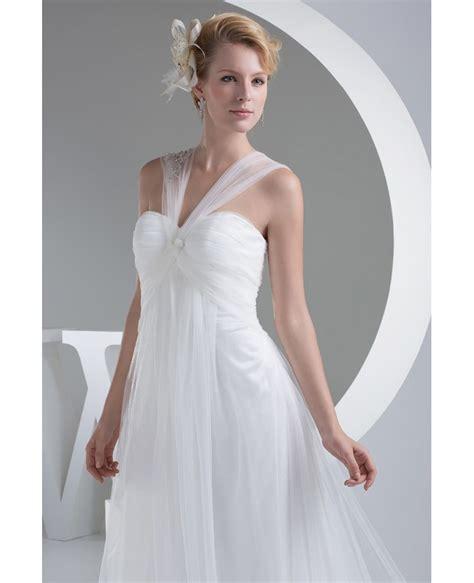 White Elegan white tulle wedding dress with oph1202 165 2 gemgrace