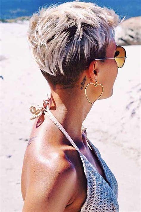 frisuren  blonde kurze haare ideen fuer damen faerben