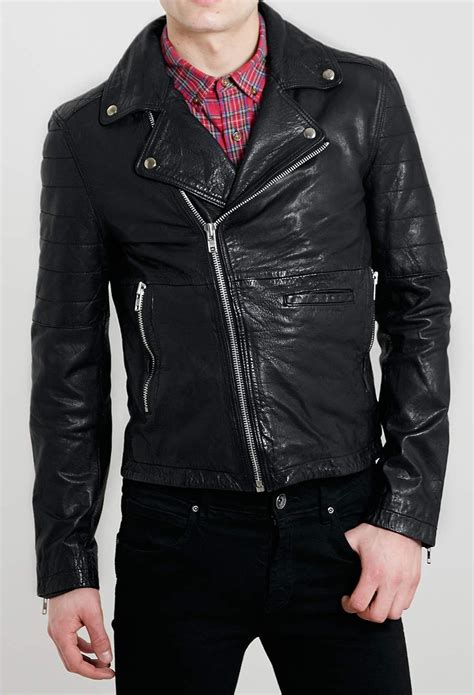 Handmade Leather Jacket - handmade mens leather jacket black biker leather jackets