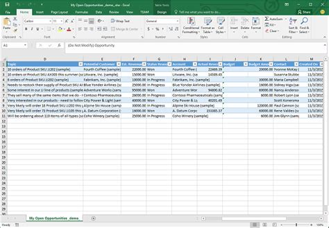 Crm Excel Template by Analyze Your Data With Excel Templates Microsoft