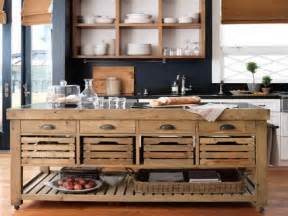 Large wood kitchen island on wheels
