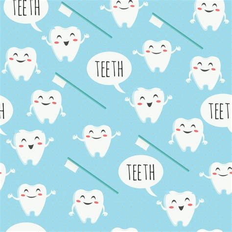How To Check Dentist Background Dental Background Stylized Tooth Brush Icons Repeating Design Free Vector In Adobe