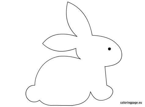 bunny craft template easter pinterest
