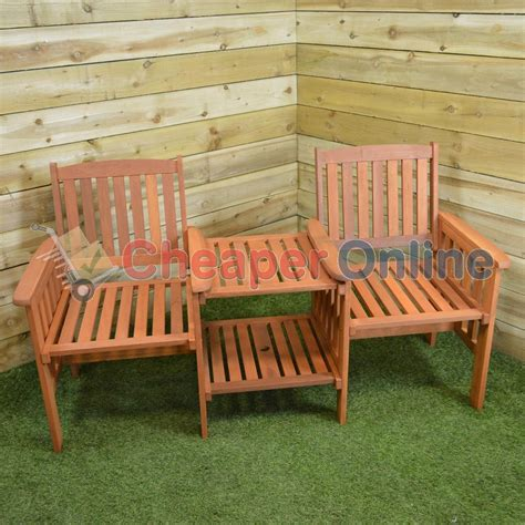 table and chairs with bench hardwood wooden garden furniture tete a tete garden seat